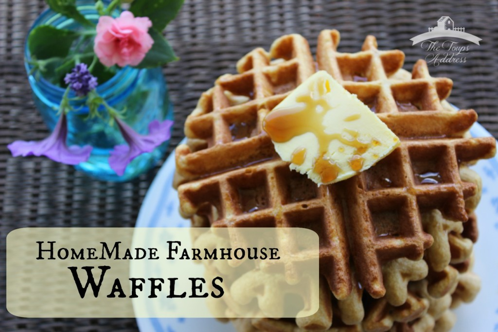 Homemade Farmhouse Waffles
